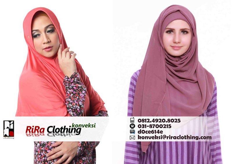 Hasil Konveksi Jilbab dan Pashmina