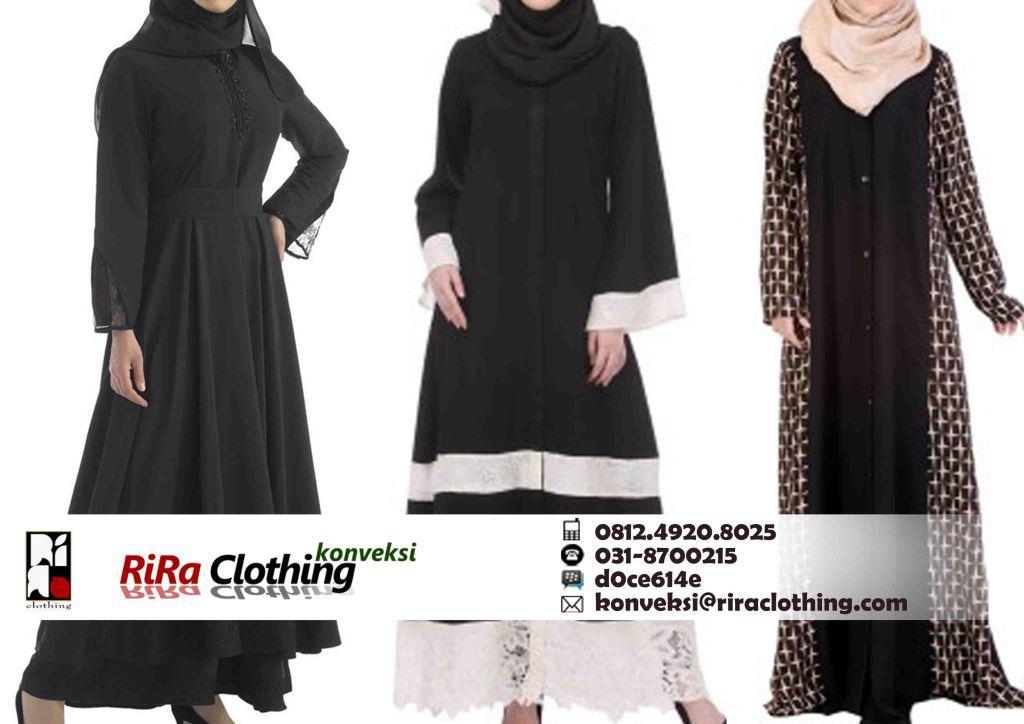 Contoh Hasil Konveksi Baju Abaya