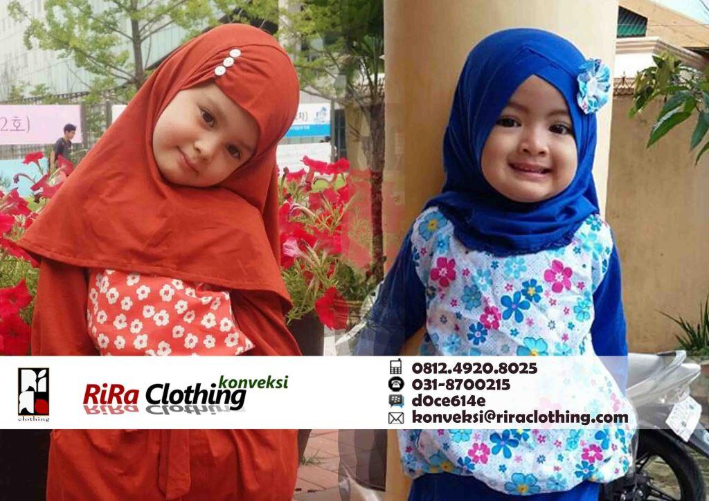 Contoh produksi konveksi hijab anak