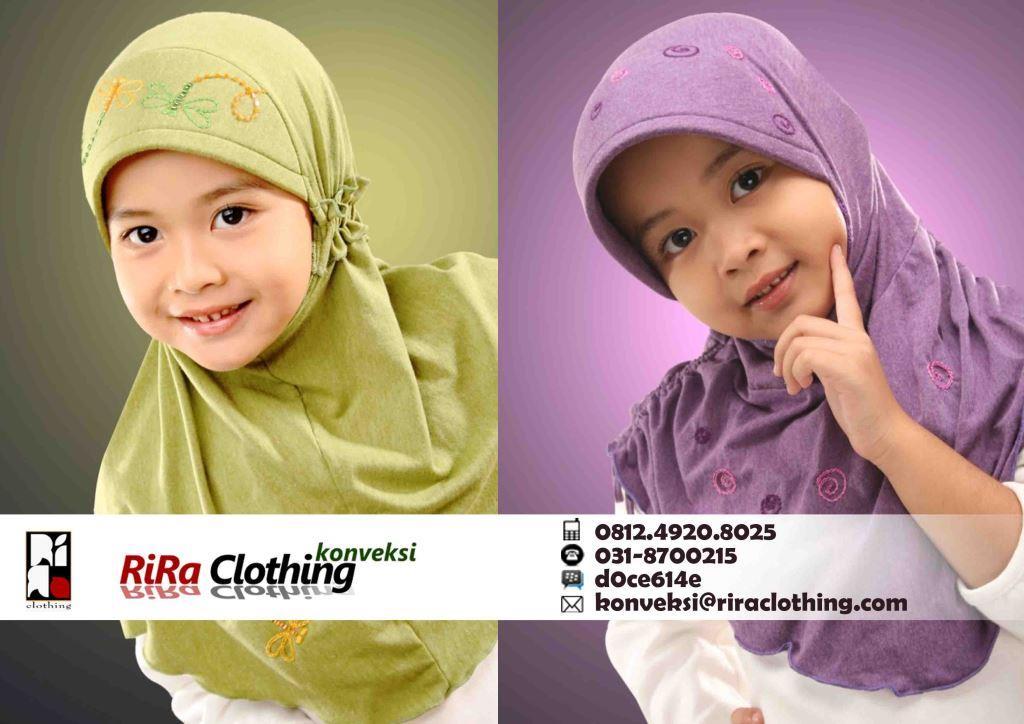 Hasil Produksi Konveksi Jilbab Anak