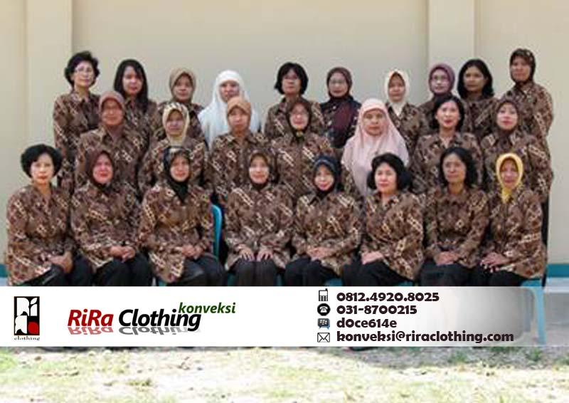 Hasil Konveksi Seragam Batik Surabaya