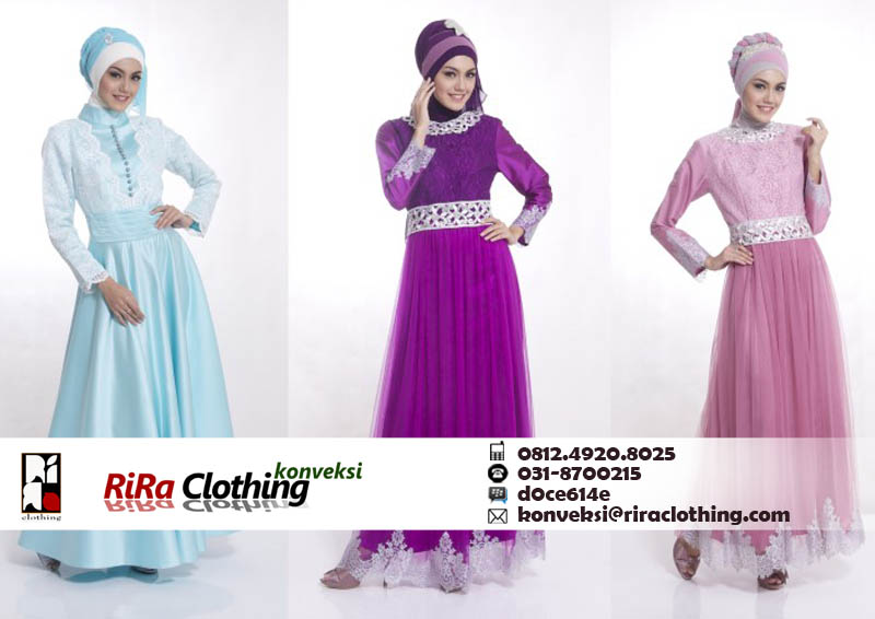 Hasil Konveksi Baju Hijab Modern
