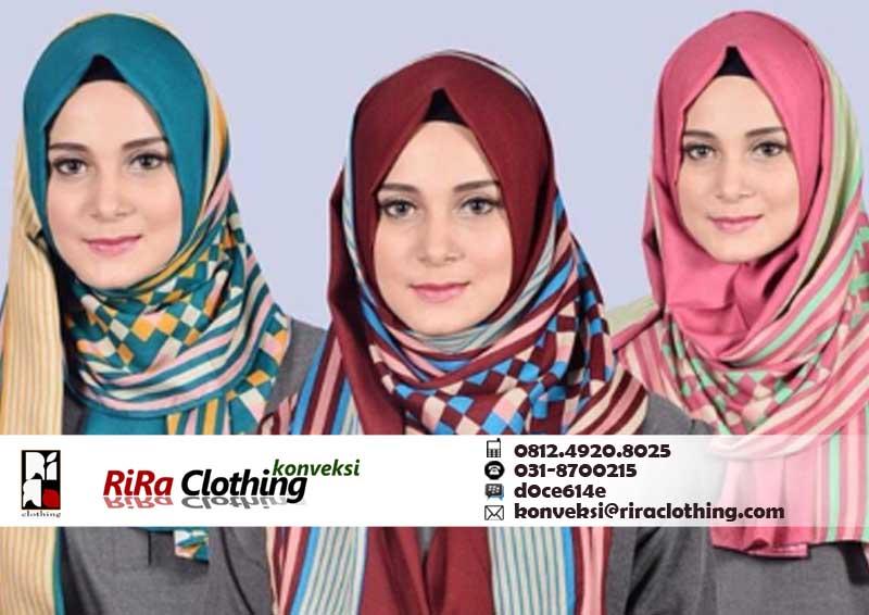 Hasil Konveksi Fashion Hijab Murah