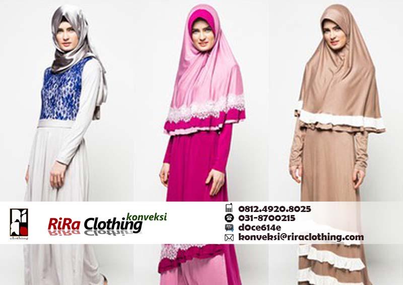 Hasil Konveksi Pakaian Muslim Surabaya