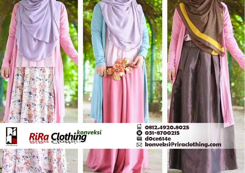 Hasil Konveksi dress Hijab